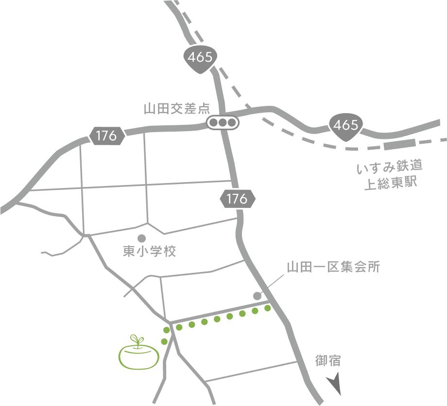 フロマジュリ カフェ ハルの地図